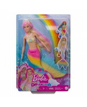 Barbie Syrenka Tęczowa Przemiana GTF89